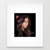 the vampire diaries Framed Art Prints featuring Elena Gilbert (The Vampire Diaries) by Ally Hsia