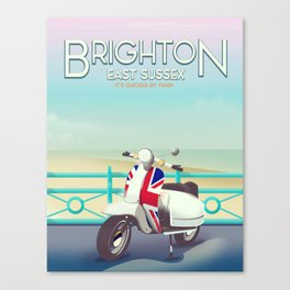 Brighton Union Scooter travel poster, Canvas Print