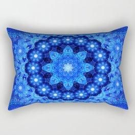 Lapis Crown Mandala Rectangular Pillow
