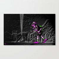 fear and loathing Canvas Prints featuring Fear and Loathing EDM by Rishi Parikh
