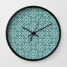 Abstract seamless ornament pattern in arabesque style, doodles line art hand drawn illustration pattern Wall Clock