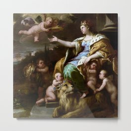 Luca Giordano Allegory of Magnanimity Metal Print