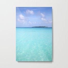 Aqua Water Island Dreams Metal Print