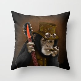 Rockers of the apes Throw Pillow