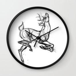 Jumping Deer I Wall Clock