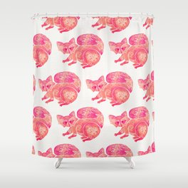 Watercolor Raccoon – Pink Palette Shower Curtain