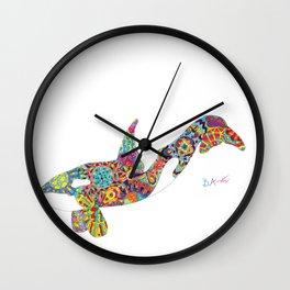 Good Vibes Orca Wall Clock