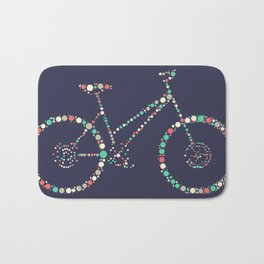 Bicycle in Dots Bath Mat