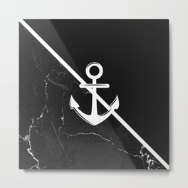 Marble & Anchor Metal Print