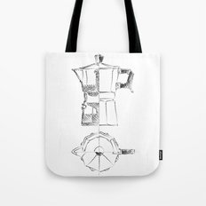 Coffee pot blueprint sketch  Tote Bag