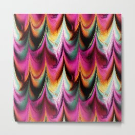 Abstract Feather organic pattern Metal Print