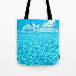 Tropical Ocean by Black Dwarf Designs Tote Bag