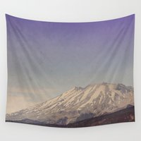 mountain Wall Tapestries featuring Mountain by Leah Flores