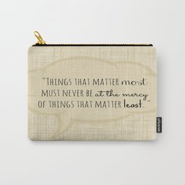 Johann Wolfgang von Goethe Quote Carry-All Pouch