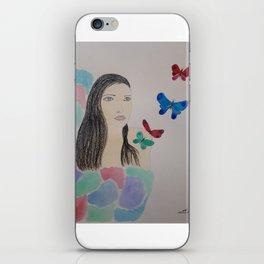 Butterflies of inspiration iPhone Skin