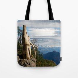 Old wooden soul: deer in El Bosque Tallado Tote Bag