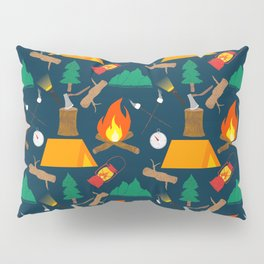 Let's Explore The Great Outdoors - Dark Blue Pillow Sham