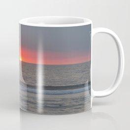 Sunset on an ocean beach Coffee Mug