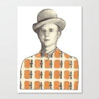 robert farkas Canvas Prints featuring Robert by Rins