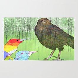 Le roi corbeau Rug