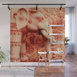 Indian Decorated Elephant Wall Mural