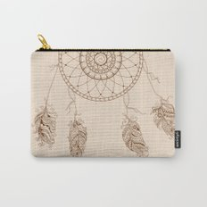 dream catcher with decorated feathers Carry-All Pouch