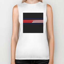 Team Colors 5...Red,blue Biker Tank