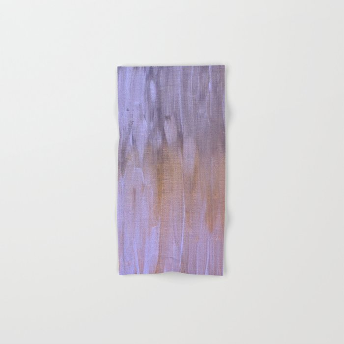 Orange and Purple Brush Strokes Hand & Bath Towel