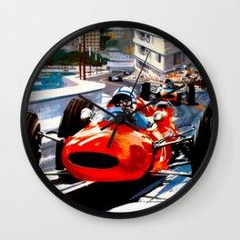 MONACO : Vintage Grand Prix Auto Racing Print Wall Clock