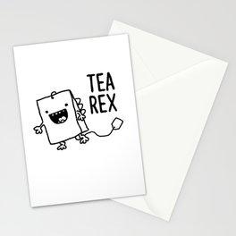 Tea Rex Funny Tea Bag T Rex Pun Stationery Cards