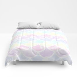 pastel mermaid Comforters