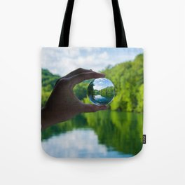 Lensball Landscape, Dale Hollow Lake Tote Bag