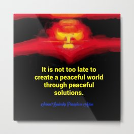 A Peaceful World Metal Print