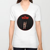 rocky horror V-neck T-shirts featuring RHPS by Zombie Rust