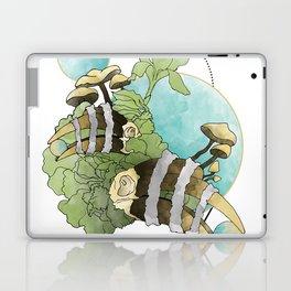 Hornbill Skulls - Green/Blue Laptop & iPad Skin