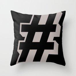 Big Hashtag Throw Pillow