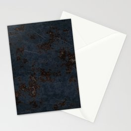 Dark blue rusty scratch metal Stationery Cards