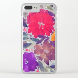 hand painted flowers_2a Clear iPhone Case