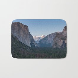 A Look At the Valley From Tunnel View in Yosemite Bath Mat