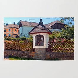 Wayside shrine in summertime | architectural photography Rug