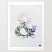 ampersand Art Prints featuring Ampersand by John W. Hanawalt