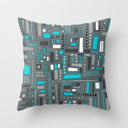 Turquoise Dream (Pattern) Throw Pillow