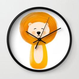 Lion, Nursery Art Wall Clock