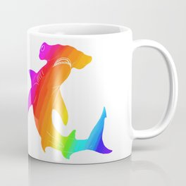 Rainbow hammerhead Coffee Mug