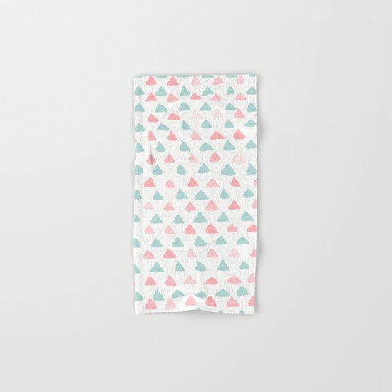pastel triangles 2 Hand & Bath Towel
