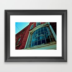 Window Through The Past Framed Art Print