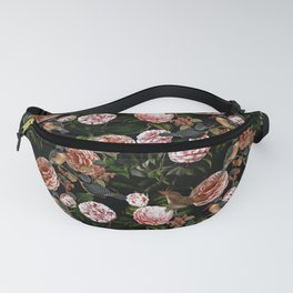 Vintage & Shabby Chic - Blush Camellia & Kingfishers Fanny Pack