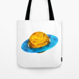 Colorful watercolor hand drawn planet. Tote Bag