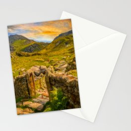 Gate to Snowdonia Wales Stationery Cards