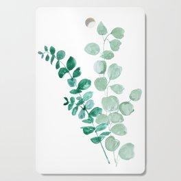 Watercolor eucalyptus leaves Cutting Board